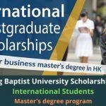 Hong Kong Baptist University Scholarship