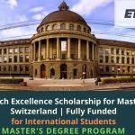 ETH Zurich Excellence Scholarship