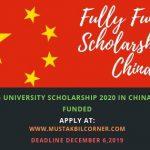 Peking University Scholarship 2020