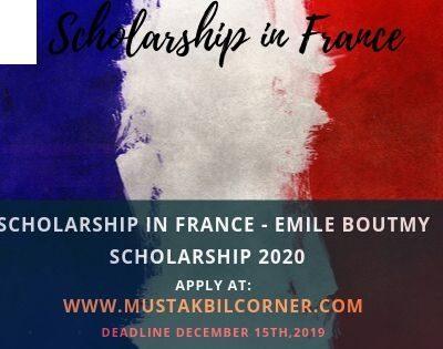 Emile Boutmy Scholarship 2020