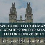 Weidenfeld Hoffmann Scholarship 2020