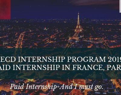 OECD Internship Program 2019