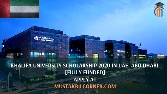 Khalifa University Scholarship 2020