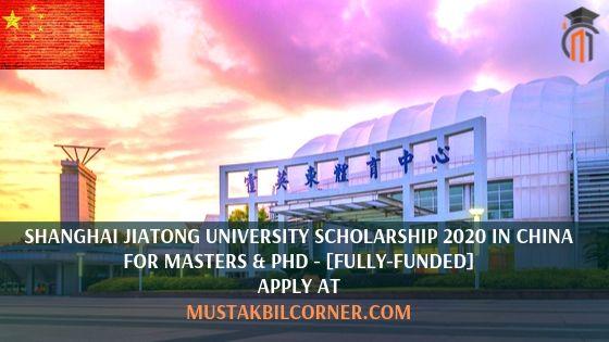Shanghai Jiatong University Scholarship