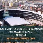 United Arab Emirates University Scholarship