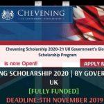 Chevening Scholarship 2020