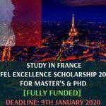 Eiffel Excellence Scholarship 2020