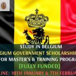 Belgium Government Scholarship 2020