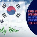 Korea Winter Internship 2020