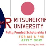 Ritsumeikan University Scholarship 2020