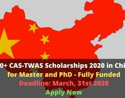 CAS-TWAS Scholarship 2020