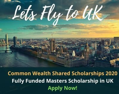Fully Funded Masters Scholarship in UK
