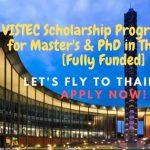VISTEC Scholarship Program 2020