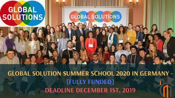 Summer School 2020.Global Solution Summer School 2020 In Germany Fully