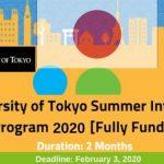 University of Tokyo Internship