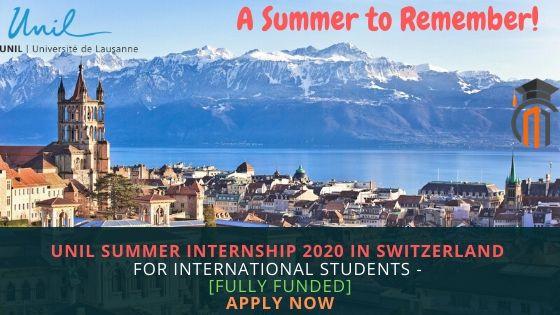 UNIL Summer Internship 2020