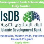 Islamic Development Bank Scholarship 2020