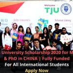 Tianjin University Scholarship 2020