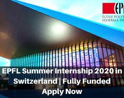 EPFL Summer Internship 2020