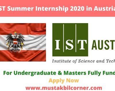 IST Summer Internship 2020