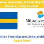 Mid Sweden University Scholarship 2020