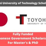 Toyohashi University of Technology Scholarship 2020