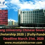 Chinese Government Scholarship 2020