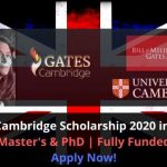 Gates Cambridge Scholarship 2020