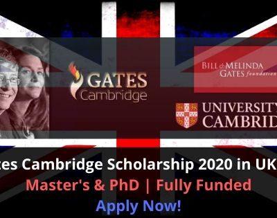 Gates Cambridge Scholarship 2020