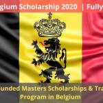 Belgium Scholarship 2020