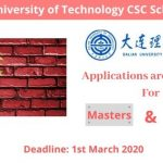 Dalian University of Technology CSC Scholarship