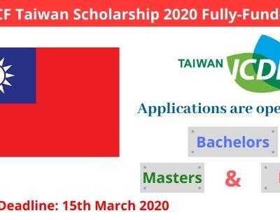 IDCF Taiwan Scholarship 2020