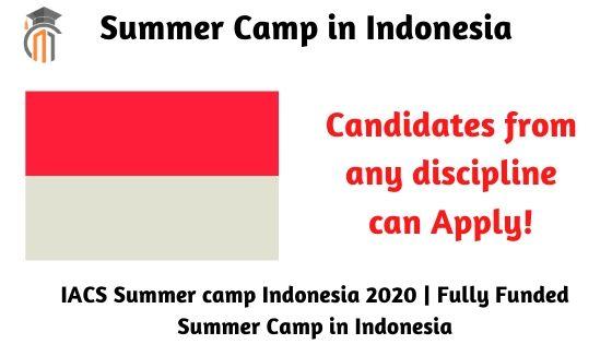 IACS Summer camp Indonesia