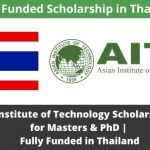 Asian Institute of Technology Scholarship 2020