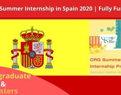 Summer Internship in Spain 2020