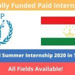 WFP Paid Summer Internship