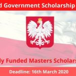 Poland Government Scholarship 2020