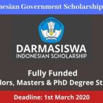 Indonesian Government Scholarship 2020