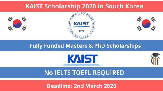 KAIST Scholarship 2020