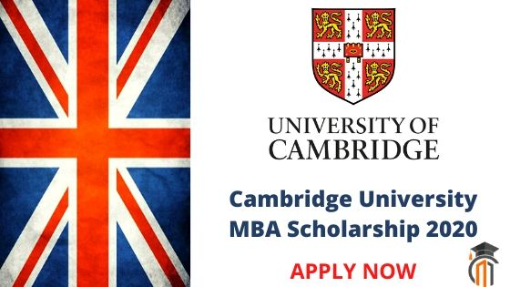 Cambridge University MBA Scholarship 2020 | Study in England