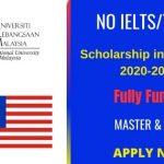 Scholarship in Malaysia 2020-2021