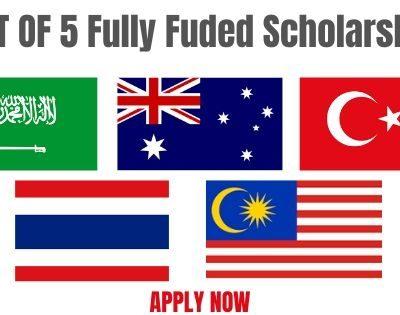 List of Fully Funded International Scholarships 2020-2021