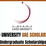 Zayed University Scholarship 2020
