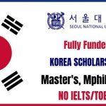 Korea University Scholarship 2021
