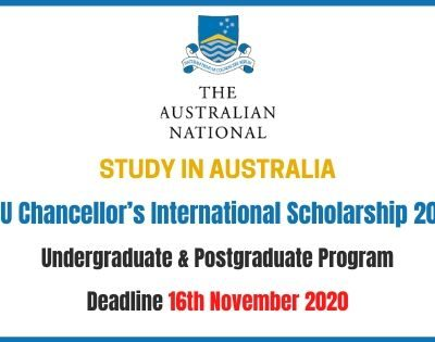 ANU International Scholarship 2021