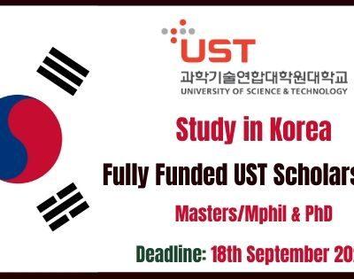 UST South Korea Scholarships 2021