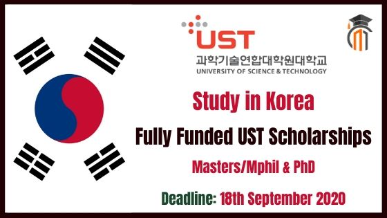 UST South Korea Scholarships 2021 for Masters/Mphil & PhD ...