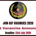 Join ASF Vacancies 2020
