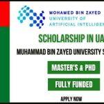 Muhammad Bin Zayed University Scholarship 2021