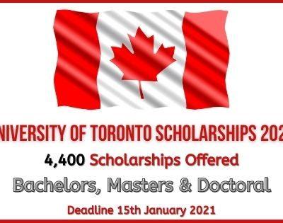 University of Toronto Scholarships 2021